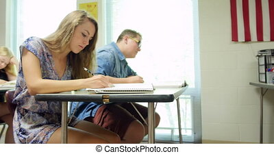Students doing their assignmentsho - High school students...