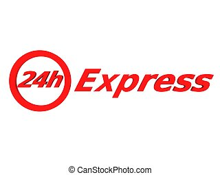 24 h express - 3d rendered ilustration of a 24 h express...