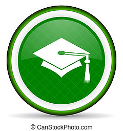 education green icon graduation sign