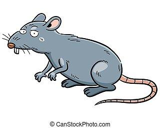 Rat - Vector illustration of cartoon Rat