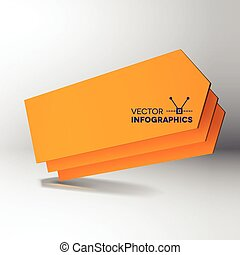 3D orange arrow boards