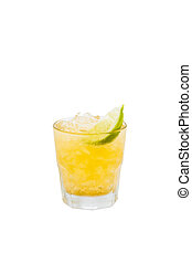 Screwdriver cocktail drink isolated with clipping path