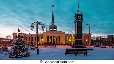Railway Station in Petrozavodsk, Russia - Railway Station...