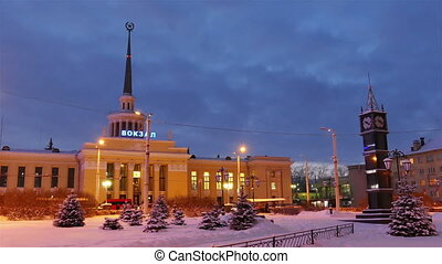 Railway Station in Petrozavodsk, Russia