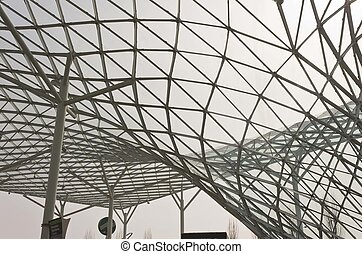 Architectural detail of Milano Fiera roofing - MILAN, ITALY...