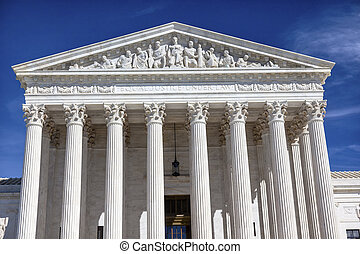 US Supreme Court Capitol Hill Daytime Washington DC - White...