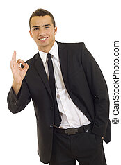 Businessman giving OK gesture - picture of a Businessman...
