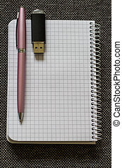 Note Pad with Pink Pen