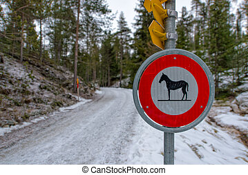 road signs for horses