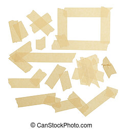 Masking Tape Pieces - Various ripped pieces of tape...