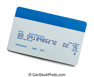 Medical Card - Blank Health Care Medical Insurance Card...