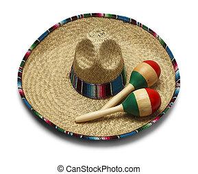 mexicano, sombrero,