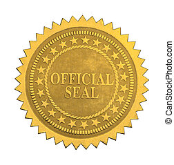 Official Star Seal - Ornate Gold Official Seal with Stars...