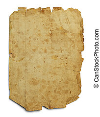 Old Worn Blank Page - Old Parchement Paper WIth Copy Space...