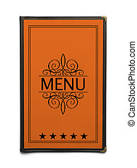 Orange Menu - Orange Generic Restaurant Menu with Five Stars...
