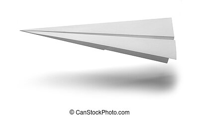 Paper Air Plane - White Paper Airplane Landing Isolated on...
