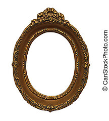 Oval Frame - Gold Orante Oval Frame Isolated on White...