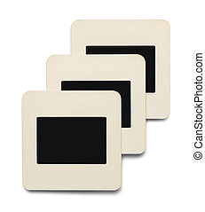 Paper Slides - Three Paper Slides with Copy Space Isolated...