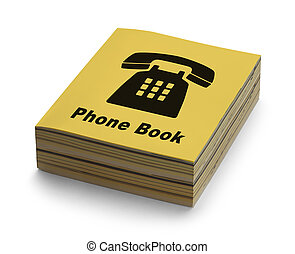 Phone Book - Yellow Phone Book with Black Phone on Cover...