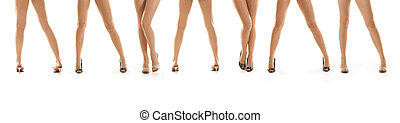 Sexy legs isolated on white