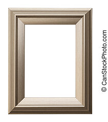Picture Frame - Rectangular Picture Frame Isolated on White...