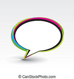 messenger window icon illustration isolated on white...