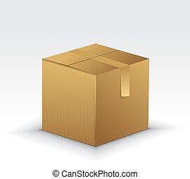 Cardboard Boxes Icons with cardboard box illustration...