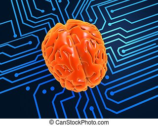 artificial intelligence - 3d rendered illustration of a...