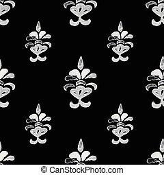 Damask seamless pattern.