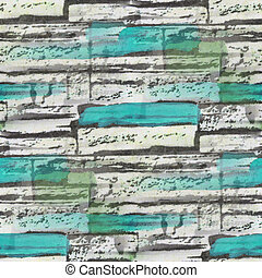 seamless turquoise, bog bricks texture background wallpaper...