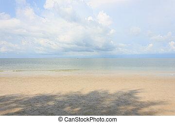 Blue sea with blue sky