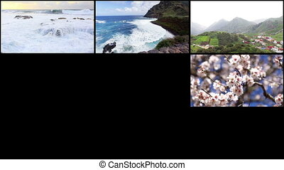 Collage from Islands on Ocean - Video collage from one of...