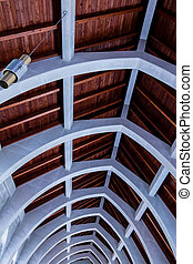 Arches Against Wood Roof