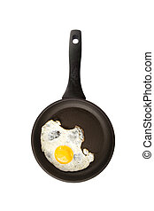 Frying An Egg - Fried egg in a frying pan