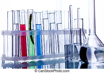 test tubes with reflection