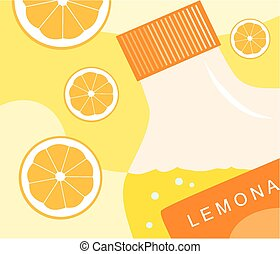 Lemonade - A graphic design type image of a bottle of...