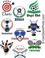 Heraldic emblems and icons for sport games design