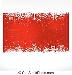 christmas background. - Ice red christmas background with...