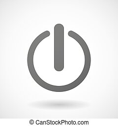 Grey turn off sign - Illustration of an isolated grey turn...