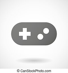 Grey game pad