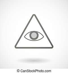 Grey Eye of Providence icon - Illustration of an isolated...