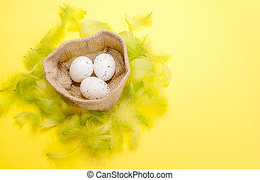 Decorations for Easter holiday. Greeting card