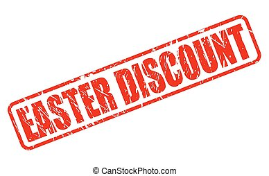 Easter discount red stamp text