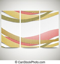 Abstract flyers set, wave vector design - Abstract flyers...