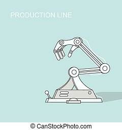 Robotic production line Manufacturing and machine,...