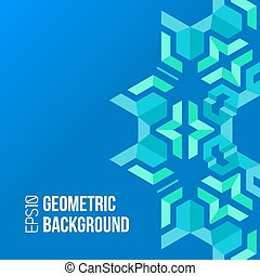 blue green asymmetric abstract geometric background