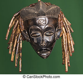 African mask - Collection of vintage African masks different...