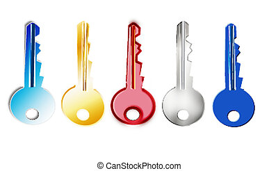 Several colors of key