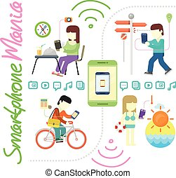Smartphone and Social Media Mania - Smartphone and social...