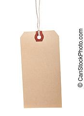 Blank Shipping Tag